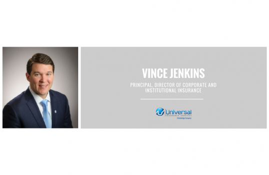 Vince Jenkins Joins Universal as Principal, Director of Corporate and Institutional Insurance
